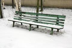 Stara ławka w parku Fotografia Royalty Free