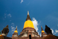 stara ayuthaya świątynia Zdjęcie Royalty Free