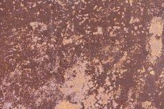 Stara będąca ubranym metal powierzchnia z farbą metal zardzewiała konsystencja Tło Metal wallah Zdjęcia Stock