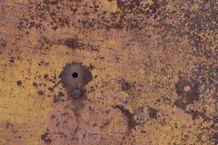 Stara będąca ubranym metal powierzchnia z farbą metal zardzewiała konsystencja Tło Metal wallah Fotografia Stock