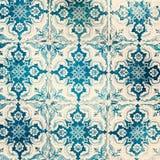 Stara będąca ubranym tekstura Tradycyjne ozdobne portuguese dekoracyjne płytki zdjęcia royalty free