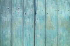 Stara błękitna drewniana tekstura z naturalnymi wzorami Fotografia Royalty Free