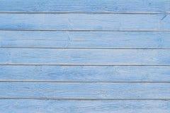 Stara błękitna drewniana tekstura z naturalnymi wzorami obrazy royalty free