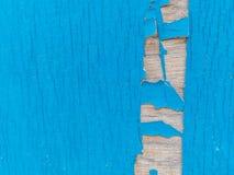 Stara błękitna i brown drewno ściana Obrazy Royalty Free