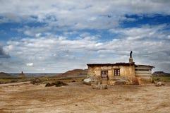 Stara bac buda w pustyni Bardenas Zdjęcie Stock