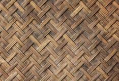 Stara bambusowa rzemiosło tekstura Obrazy Royalty Free