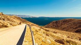 Stara Baska bay in krk. Summer day near Stara Baska village in Krk Island royalty free stock photo