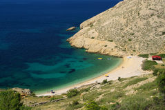 Stara Baska beach Stock Images