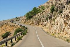 Stara Baska coast road Royalty Free Stock Photo