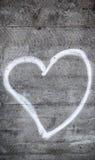 Stara betonowa ściana z sercem Obraz Royalty Free