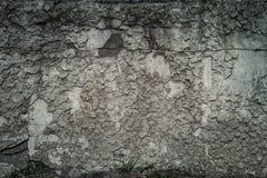 Stara betonowej ściany tekstura, pęka narysy szczerbiących się zdjęcia stock
