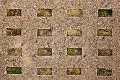 Stara betonowej drogi cegiełka Zdjęcie Stock