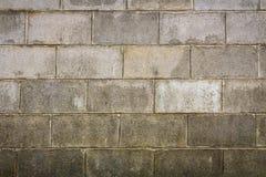 Stara betonowy blok ściana Fotografia Stock