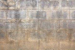 Stara betonowy blok ściana Zdjęcie Stock