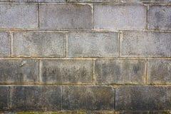 Stara betonowy blok ściana Zdjęcia Royalty Free