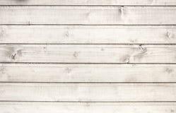 Stara biała drewniana tekstura Obrazy Stock