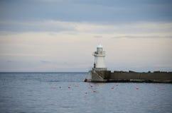 Stara biała latarnia morska Zdjęcia Stock