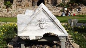 Stara biała ruina w Izrael Obrazy Stock