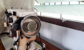 Stara biała szwalna maszyna Obrazy Royalty Free