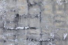 Stara bielu gnicia betonu pęknięcia ściana i kopii przestrzeń dla dodajemy tekst obrazy royalty free