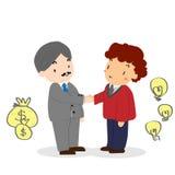 Stara Biznesowego mężczyzna potrząśnięcia ręka z Młodym Biznesowym mężczyzna Zdjęcie Royalty Free
