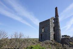 Stara Blaszana kopalnia Cornwall Anglia Zdjęcie Royalty Free