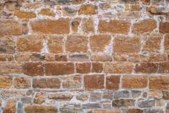 Stara brąz ściana z błękitnawymi niuansami Zdjęcia Stock