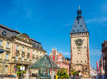 Stara brama Speyer, Niemcy - Zdjęcia Royalty Free