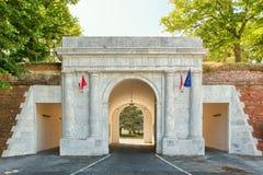 Stara brama - wejście centrum Lucca Obrazy Royalty Free