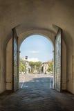 Stara brama - wychodzi od historycznego centrum Lucca Zdjęcie Royalty Free