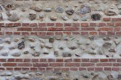 Stara bricky ściana z kamieniami Fotografia Stock
