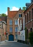 stara Bruges ulica Obraz Royalty Free