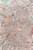 stara Brussels mapa zdjęcia royalty free