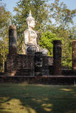 Stara Buddha statua w Sukhothai Dziejowym parku Obrazy Royalty Free