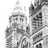 stara budowa w London Europe englan okno i ściana z cegieł Zdjęcie Royalty Free