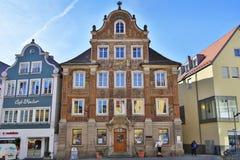 Stara budynek apteka obraz stock