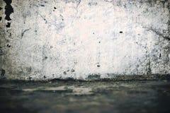 Stara budynek ściana z obranym tynkiem Zdjęcia Royalty Free