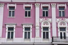 Stara budynek fasada przy zjednoczenie kwadratem Zdjęcia Royalty Free