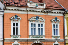 Stara budynek fasada przy zjednoczenie kwadratem Obraz Royalty Free