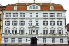 Stara budynek fasada przy zjednoczenie kwadratem Piata Unirii Obrazy Royalty Free