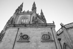 Stara Burgos katedra Fotografia Royalty Free