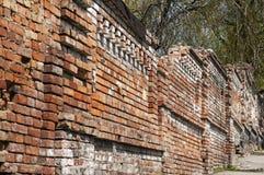 Stara cegła wietrzejąca ściana Fotografia Stock