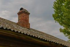Stara cegła dachu drymba Zdjęcia Royalty Free