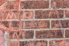 stara ceglana ściana Zdjęcie Stock