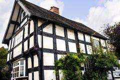 Stara chałupa w Cheshire Targowym miasteczku Sandbach Anglia Fotografia Royalty Free