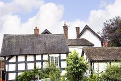 Stara chałupa w Cheshire Targowym miasteczku Sandbach Anglia Obrazy Stock