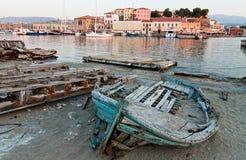 Stara Chania łódź. Zdjęcia Stock