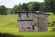 stara chata kukurydziany Obrazy Stock