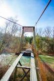 Stara chlanie mosta Siuslaw rzeka Obraz Stock