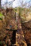Stara chlanie mosta Siuslaw rzeka Fotografia Stock